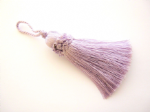 Lilac key tassel - 10cm + loop - Luxury blind cushion curtain or fabric trim